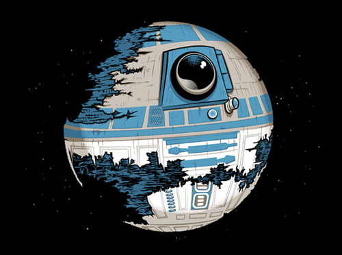Mashup de R2-D2 et la Death Star